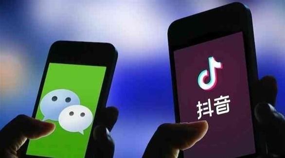 تطبيقي تيك توك ووي تشات الصينيين (أرشيف)