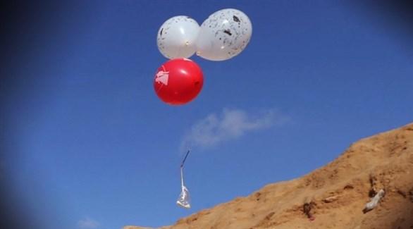 بالونات محملة بمواد حارقة في غزة (أرشيف)