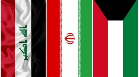 أعلام الكويت وايران والعراق (أرشيف)