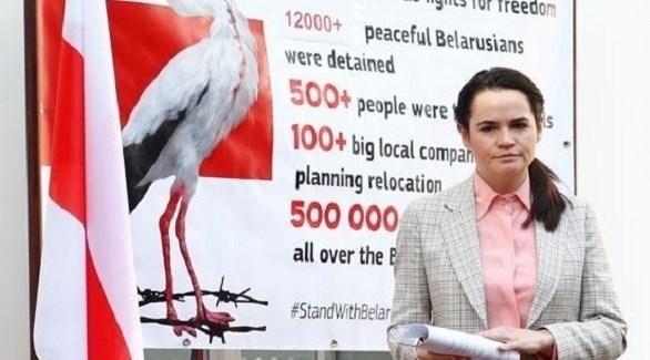 زعيمة المعارضة البيلاروسية سفيتلانا تيخانوفسكايا (أرشيف)