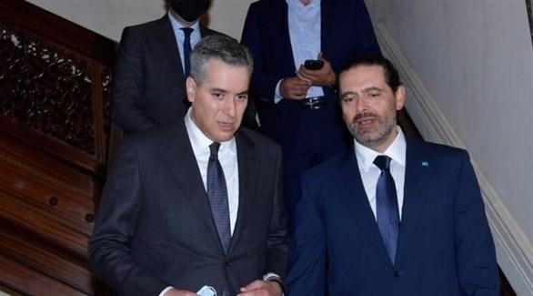 سعد الحريري بعيد لقائه مع مصطفى أديب (أرشيف / النهار)