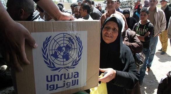 جانب من توزيع المساعدات (أرشيف)