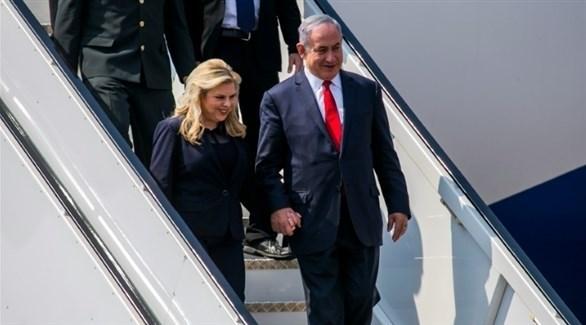 رئيس الوزراء الإسرائيلي بنيامين نتانياهو وزوجته (أرشيف)