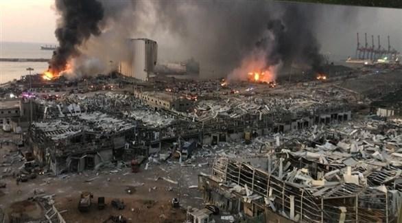 دمار كبير في مرفأ بيروت بسبب الانفجار الهائل الذي وقع في أغسطس (أرشيف)
