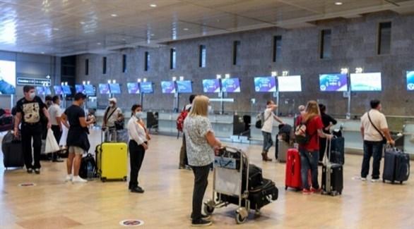 مسافرون في مطار إسرائيلي (أرشيف)
