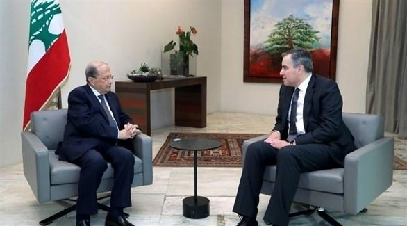 المكلف بتشكيل الحكومة اللبنانية مصطفى أديب وميشال عون (أرشيف)