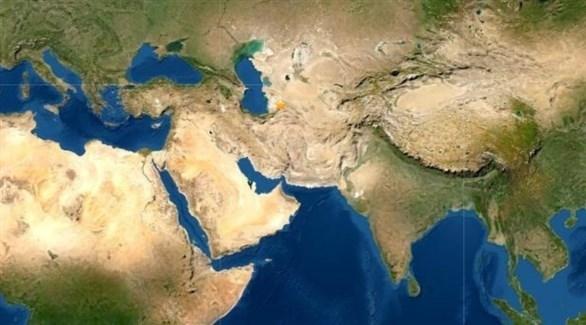 النجمة الذهبية تحدد مكان وقوع الزلزال (المرصد الأمريكي للزلازل)