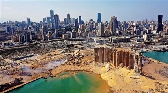 الدمار الذي لحق بمرفأ بيروت (أرشيف)