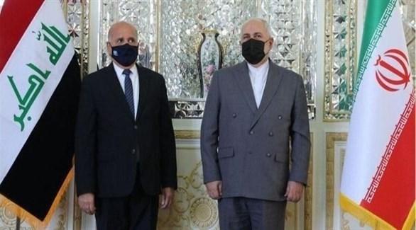 وزير الخارجية الإيراني ونظيره العراقي (إرنا)