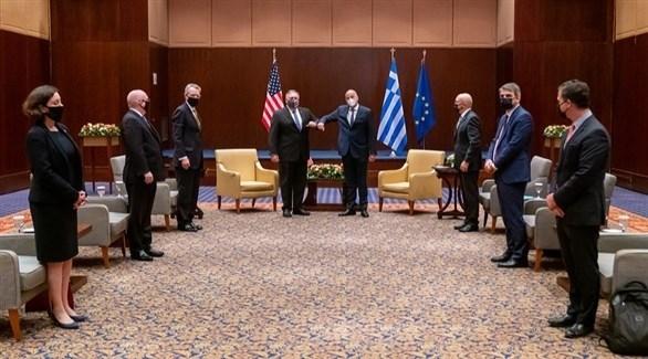 لقاء بين وزير الخارجية اليوناني ونظيره الأمريكي (وزارة الخارجية الأمريكية / فليكر)