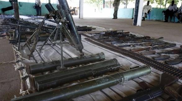 أسحلة مصادرة في أحد مخازن الجيش السوداني  (أرشيف)