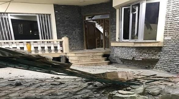 جانب من الأضرار التي طالت الشركة المستهدفة اليوم في بغداد (تويتر)