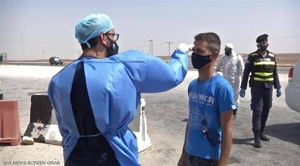 إجراءات وقائية لمنع تفشي كورونا في مخيمات اللاجئين في الأردن (أرشيف)