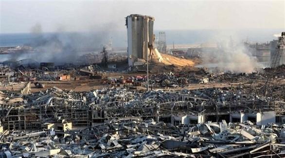 ميناء بيروت بعد الانفجار (أرشيف)