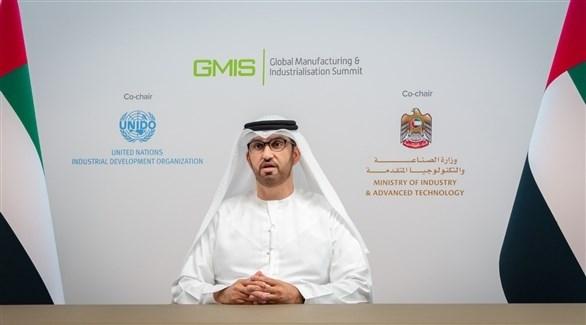 وزير الصناعة والتكنولوجيا المتقدمة الدكتور سلطان سلطان الجابر (أرشيف)