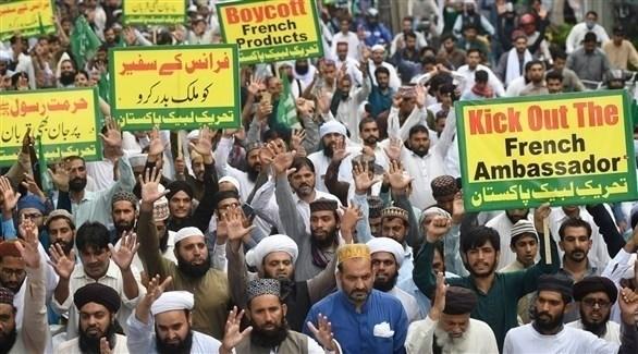 احتجاجات في باكستان ضد صحيفة شارلي ايبدو (تويتر)