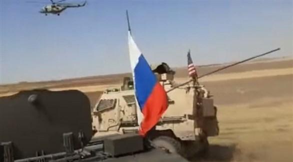 حادث تصادم بين مركبة عسكرية أمريكية وأخرى روسية في سوريا (أرشيف)