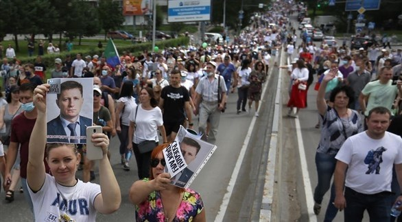 احتجاجات في خاباروفسك ضد الكرملين (إ ب أ)