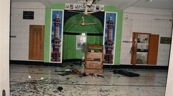 جانب من بعض الدمار داخل المسجد (أرشيف)