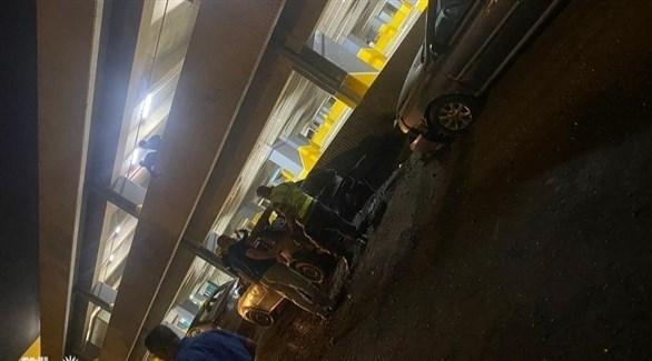 تضرر عدد من السيارات في مطار بغداد (أرشيف)