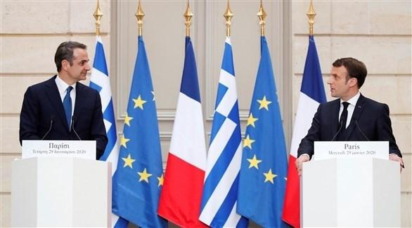 رئيس الوزراء اليوناني والرئيس الفرنسي (أرشيف)