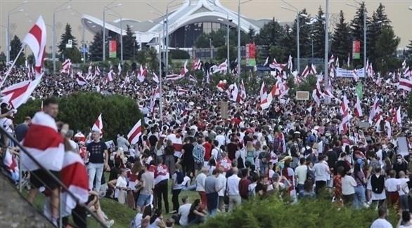 تظاهرة حاشدة للمعارضة في بيلاروس (أرشيف)
