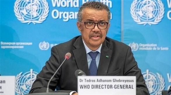 مدير منظمة الصحة العالمية تيدروس أدهانوم جيبريسوس (أرشيف)