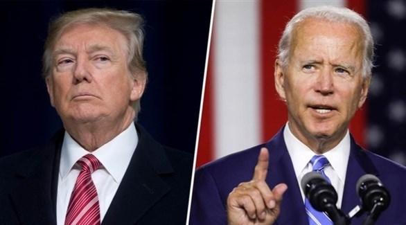 المرشح الديمقراطي بايدن والرئيس الأمريكي ترامب (أرشيف)