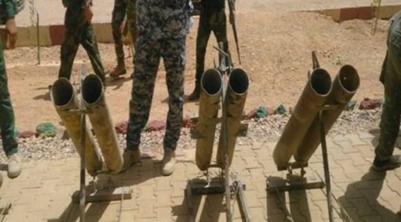 مقذوفات صادرها الأمن العراقي في مداهمة سابقة (أرشيف)