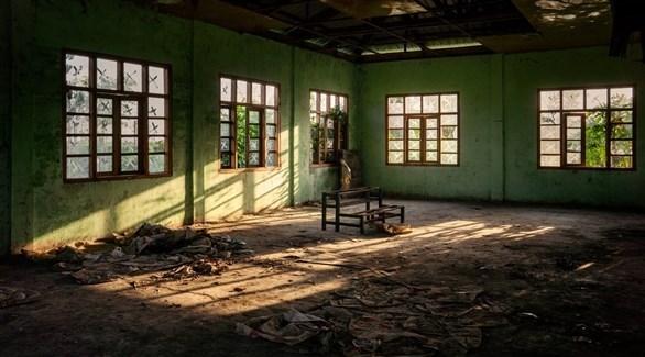 بقايا إحدى مدارس الروهينجا في شرق ميانمار (نيويورك تايمز)