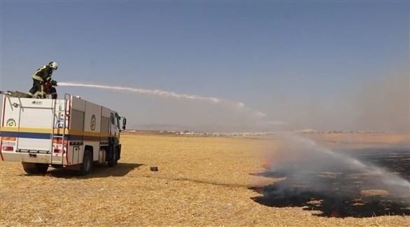 آلية إطفاء تابعة لمنظمة الخوذ البيضاء ( الخوذ البيضاء)