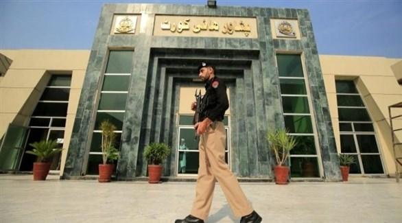 عسكري أمام محكمة باكستانية (أرشيف)