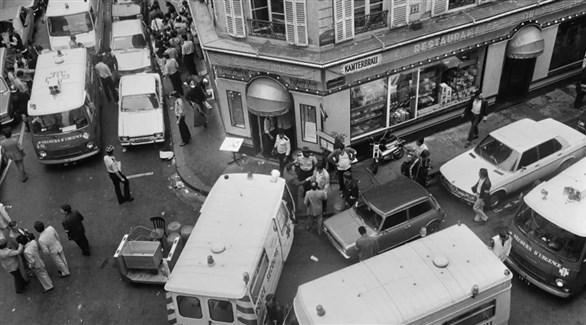 المطعم الذي اسنهدف في شاري دي روزييه في باريس عام 1982 (أ ف ب)