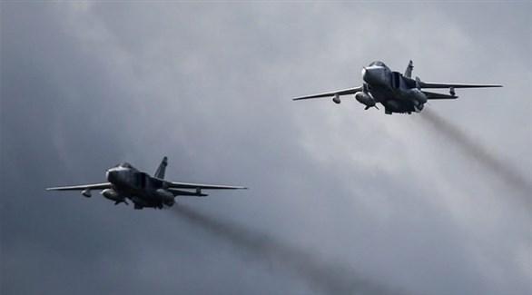 طائرات حربية روسية تستهدف مواقع للمسلحين في إدلب (أرشيف)