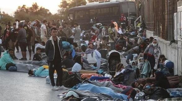 لاجئون مخيم موريا باليونان (أرشيف)