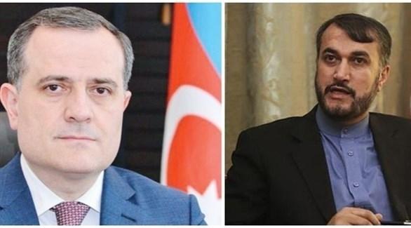 وزيرا خارجية إيران أمير عبداللهيان وأذربيجان جيحون بايراموف (أرشيف)