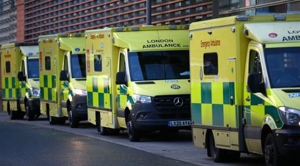 مركبات إسعاف بريطانية (أرشيف)