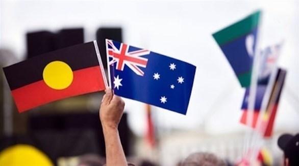 علم أستراليا وراية السكان الأصليين