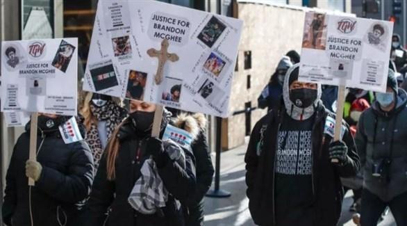 متظاهرون ضد حمل السلاح في شيكاغو (أ ف ب)