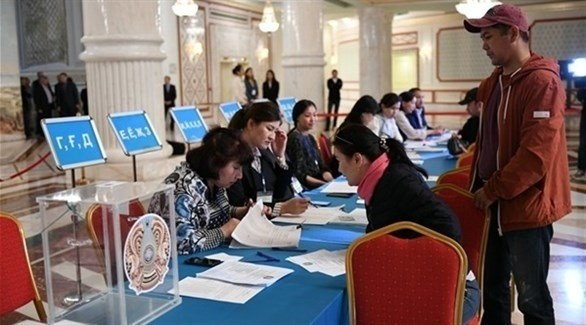 أحد مراكز الاقتراع خلال الانتخابات في كازاخستان (أرشيف)