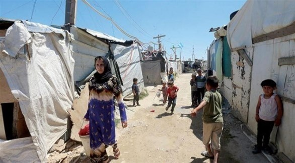 أطفال في مخيم الطيبة للاجئين السوريين في بعلبك اللبنانية (أرشيف)