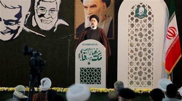 إبراهيم رئيسي خلال احتفال بالذكرى الأولى لاغتيال سليماني (الأوروبية)