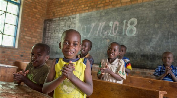 أطفال في مدرسة ببورندي (أرشيف)