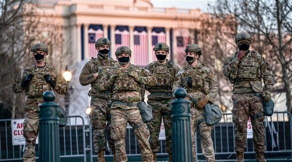 عناصر من الحرس الوطني الأمريكي في واشنطن (أرشيف)