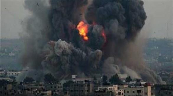 تصاعد النيران بعد قصف إسرائيلي سابق لغزة (أرشيف)