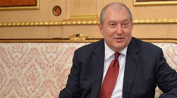 الرئيس الأرمني أرمين سركيسيان (أرشيف)