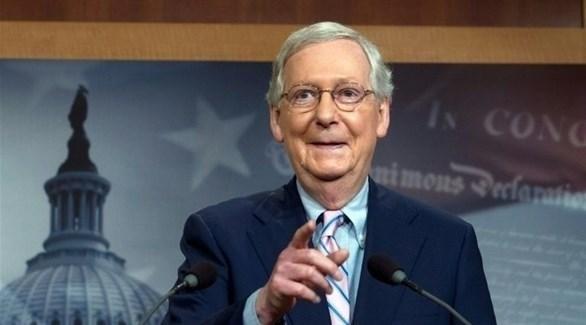 زعيم الأغلبية في مجلس الشيوخ الأمريكي السناتور الجمهوري ميتش ماكونيل (أرشيف)