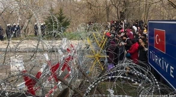 لاجئون على الحدود التركية اليونانية (أرشيف)