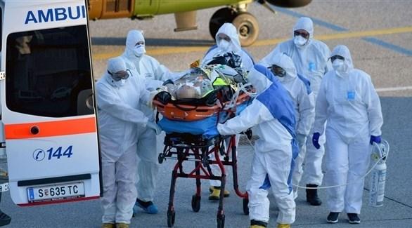 نقل مصاب بفيروس كورونا في سويسرا (أرشيف)