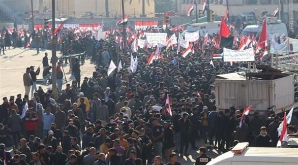 جانب من التجمع في ساحة التحرير (أرشيف)